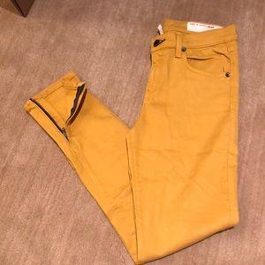 Rag & Bone Mustard Yellow Skinny Jean w/ Ankle Zip